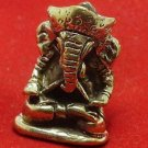LORD GANESH GANESHA ELEPHANT GOD HINDU THAI MINI AMULET SUCCESS WIN ALL OBSTACLE