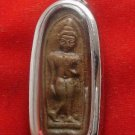 BUDDHA LEELA REAL THAI ANTIQUE THAILAND AMULET WIN ALL OBSTACLES LIFE PROTECTION