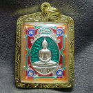 LP SOTORN GREEN THAILAND FAMOUS TEMPLE THAI BUDDHA AMULET GOLD PLATED PENDANT