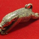 MIRACLE MAGIC BOAR WILD PIG WIN OBSTACLES THAI AMULET LUCKY TALISMAN HIP PENDANT