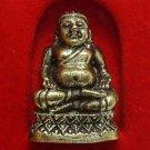 TINY MINIATURE HAPPY BUDDHA SANGKAJAI HOTEI BUDAI REAL THAI MINI AMULET RICH WIN