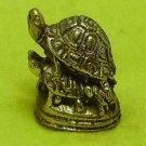 TINY MAGIC TURTLES LP LEW THAI MINI BRASS REAL AMULET LUCKY MONEY RICH NICE GIFT