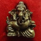 LORD GANESH GANESHA DEITY GREAT GOD THAI HINDU MINI BRASS AMULET REMOVE OBSTACLE