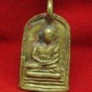 1935 LP PLAI THAI TOP BUDDHA BRASS COIN PENDANT LIFE PROTECTION LUCKY MONEY RICH