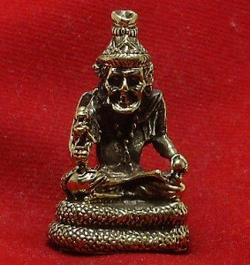 HERMIT LERSI ON MAGIC NAGA NAK THAI MINI AMULET LIFE PROTECTION LUCKY CHARM GIFT