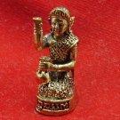 TINY BRASS NANGKWAK LADY CALL FOR MONEY RICH LUCKY TRADE THAI BUDDHA MINI AMULET