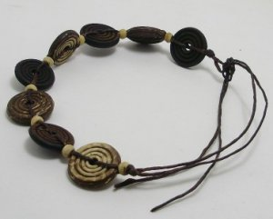 HANDMADE ANKLET COCONUT SHELL BEAD HOT THAI LUCKY CHARM