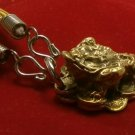 FROG ON CHINESE MONEY REAL WEALTH RICH LUCKY GAMBLE WIN PENDANT & ROPE NECKLACE