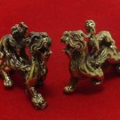 CHINESE MINI BRASS REAL AMULET DUO PI YAO DRAGON MONEY WEALTH FORTUNE LUCKY RICH