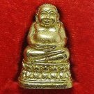 HAPPY BUDDHA SANGKAJAI BUDAI THAI BUDDHIST MINI BRASS AMULET CHARM LUCKY RICH