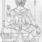 PHRA PIRAP GIANT THAI HINDU MINI BRASS AMULET WISDOM SUCCESS LUCKY REAL TALISMAN