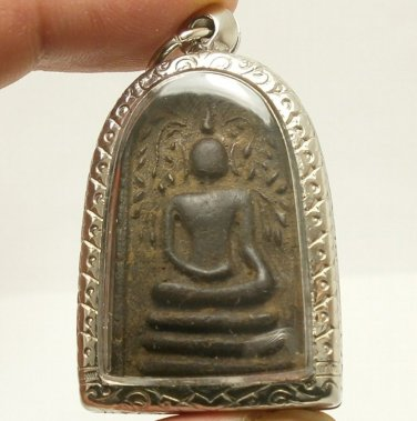 REAL THAI ANTIQUE AMULET LP BOON BUDDHA BLESSING LUCKY RICH HAPPY LOVE LONG LIFE