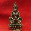 LORD BUDDHA THAI MINI AMULET BEAUTIFUL TINY BRASS STATUE LUCKY HAPPY WEALTH LIFE