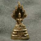 TINY NAKPROK NAGA SNAKE PROTECT LORD BUDDHA THAI SATURDAY AMULET LUCKY NICE LIFE