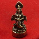 THAI MINI BRASS AMULET MAGIC MIRACLE DEVI LUCKY SUCCESS REMOVE OBSTACLE CHARM