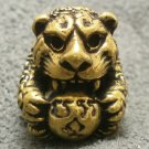 TINY TIGER LP PERN MONEY ATTRACTION THAI MAGIC YANT MINI BRASS BALL AMULET GIFT
