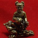 THAI MINI AMULET GUMAREE GUMAN THONG GIRL ON MAGIC FROG LUCKY MONEY WEALTH RICH