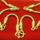 29 INCH LONG GOLD PLATED MICRON NECKLACE FOR 5 BUDDHA AMULETS PENDANTS NICE GIFT