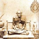 PIDTA CLOSE EYES BUDDHA LOTUS LP BOON THAI AMULET AGAINST BLACK MAGIC BAD SPIRIT