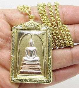 PHRA SOMDEJ TOH WAT RAKANG MAGIC CHINABANCHORN KATHA THAI BUDDHA AMULET PENDANT