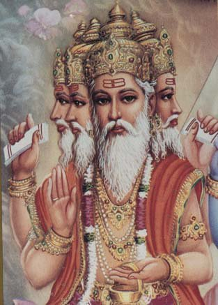 LORD BRAHMA TRIMURTI HINDU GOD DEITY AMULET PENDANT NECKLACE BLESSED FOR SUCCESS