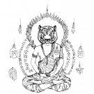 TIGER FACE LERSI SAMING PRAI HERMIT REAL THAI MINI AMULET STRONG LIFE PROTECTION