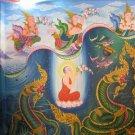 RARE CAMBODIA KHMER UPAKOOT LOTUS ARAHAN KHMER BUDDHA BRASS AMULET LUCKY PENDANT