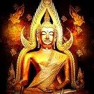 PHRA BUDDHA CHINNARAJ THAI REAL AMULET SUCCESS LUCKY RICH HAPPY PENDANT NECKLACE