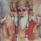 LORD BRAHMA TRIMURTI HINDU GOD DEITY BLESS AMULET LUCKY SUCCESS PENDANT NECKLACE