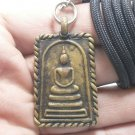 SOMDEJ WAT RAKANG THAI BRASS BUDDHA LUCKY RICH SUCCESS AMULET PENDANT NECKLACE