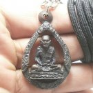 LP NGERN REAL THAI POWERFUL MONK BUDDHA AMULET COIN PENDANT LUCKY RICH NECKLACE