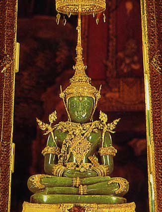 PHRA KAEW THAI BUDDHA AMULET BLESSED FOR LUCKY SUCCESS PEACEFUL PENDANT NECKLACE