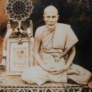 1953 RED LP PUEK OF WAT KINGKAEW MAGIC YANT THAI POWERFUL BUDDHA MIRACLE AMULET