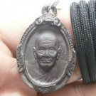 LP TUAD THUAD COIN THAI REAL BUDDHA AMULET STRONG LIFE PROTECTION LUCKY PENDANT