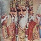 LORD BRAHMA PHRA PROM PENDANT TRIMURTI HINDU GOD DEITY BRASS AMULET SUCCESS GIFT