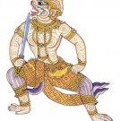 HANUMAN CHANT MAGIC 2 LUCKY CARP FISH AMULET PENDANT MUAY THAI STRONG PROTECTION