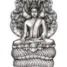 THAI ANTIQUE REAL AMULET BUDDHISM PENDANT NAGA SNAKE PROTECTION NAKPROK BUDDHA