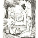 THAI MINI AMULET GOOD HEALTH TALISMAN HERMIT CHEEVAKA DOCTOR HEALING LORD BUDDHA