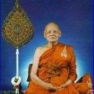THAI PROTECTION MAGIC AMULET LUCKY PENDANT LP PAE PIDTA PITTA CLOSE EYES BUDDHA