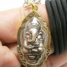 GANESHA NECKLACE PENDANT GANAPATI VINAYAKA GANESH OM AUM HINDU GOD DEVA SUCCESS