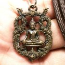 THAI LORD BUDDHA BEAUTIFUL ART CRAFT BRASS AMULET PENDANT LUCKY CHARM NECKLACE
