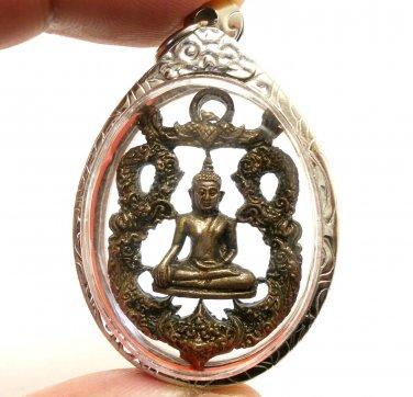 THAI LORD BUDDHA BEAUTIFUL ART CRAFT AMULET PENDANT LUCKY SUCCESS SIAM NICE GIFT