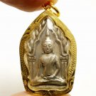 SMALL KHUNPAEN GUMAN THONG LP POON THAI MIRACLE AMULET PENDANT LUCKY GAMBLE RICH