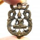THAI LORD BUDDHA BEAUTIFUL ART CRAFT BRASS AMULET PENDANT LUCKY SUCCESS NECKLACE
