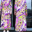 Psychedelic Saks 1970s Hostess Gown