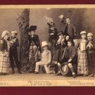 1890 Pach Brothers, Cabinet Card of Liliputians