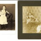 Cabinet Cards of Girls with dolls