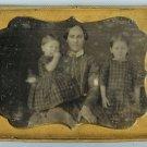 Mother and Children 1/4 Plate Daguerreotype