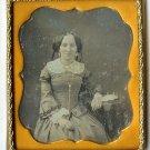 Beautiful Lady with Gilt Jewelry