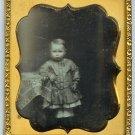 Daguerreotype of Child in Pantaloons